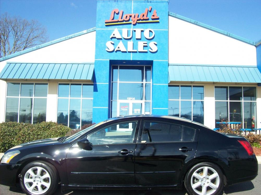 2008 BLACK /Gray / Cloth Nissan Maxima SE (1N4BA41E28C) with an 3.5L V6 DOHC 24V engine, located at 1814 Albert Pike Road, Hot Springs, AR, 71913, (501) 623-1717, 34.494591, -93.094971 - Photo #0