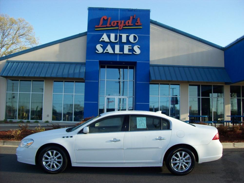 2010 WHITE /Tan / Leather Buick Lucerne CXL (1G4HC5EM8AU) with an 3.9L V6 OHV 12V engine, 4-Speed Automatic transmission, located at 1814 Albert Pike Road, Hot Springs, AR, 71913, (501) 623-1717, 34.494591, -93.094971 - Photo #0