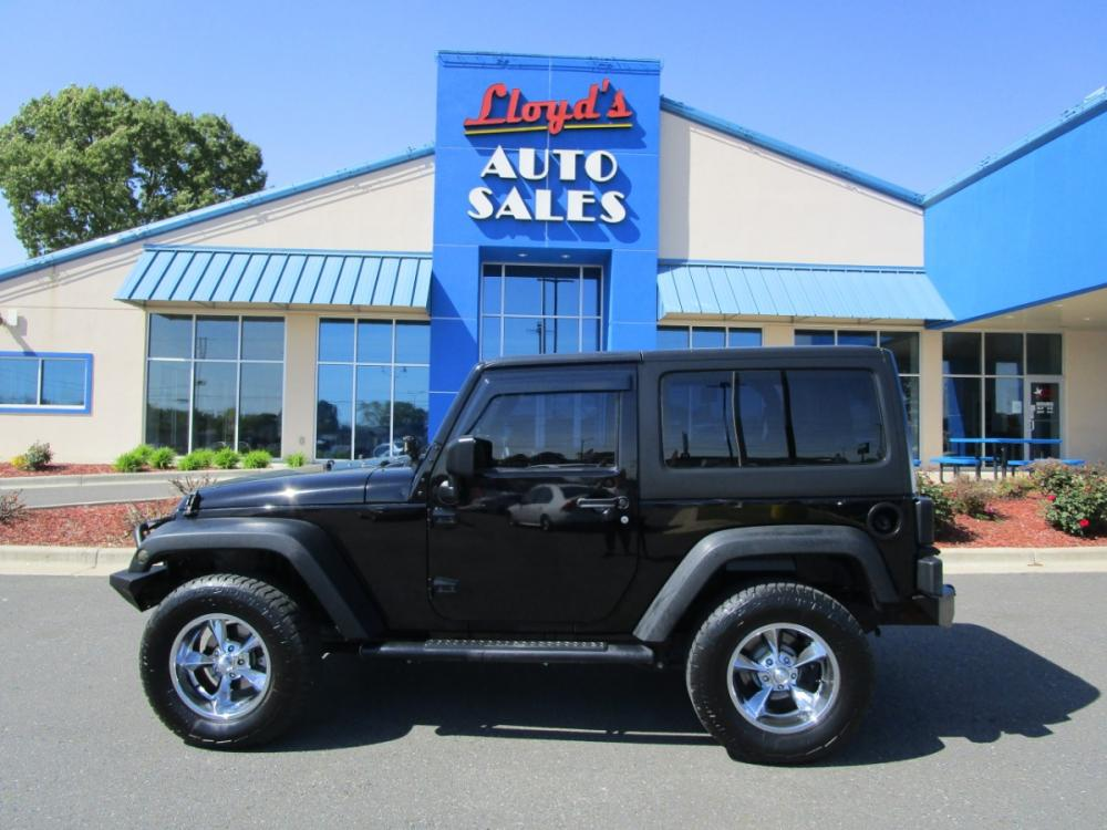 2013 BLACK /Black / Cloth Jeep Wrangler Sport 4WD (1C4AJWAG6DL) with an 3.6L V6 DOHC 24V FFV engine, located at 1814 Albert Pike Road, Hot Springs, AR, 71913, (501) 623-1717, 34.494591, -93.094971 - Photo #0