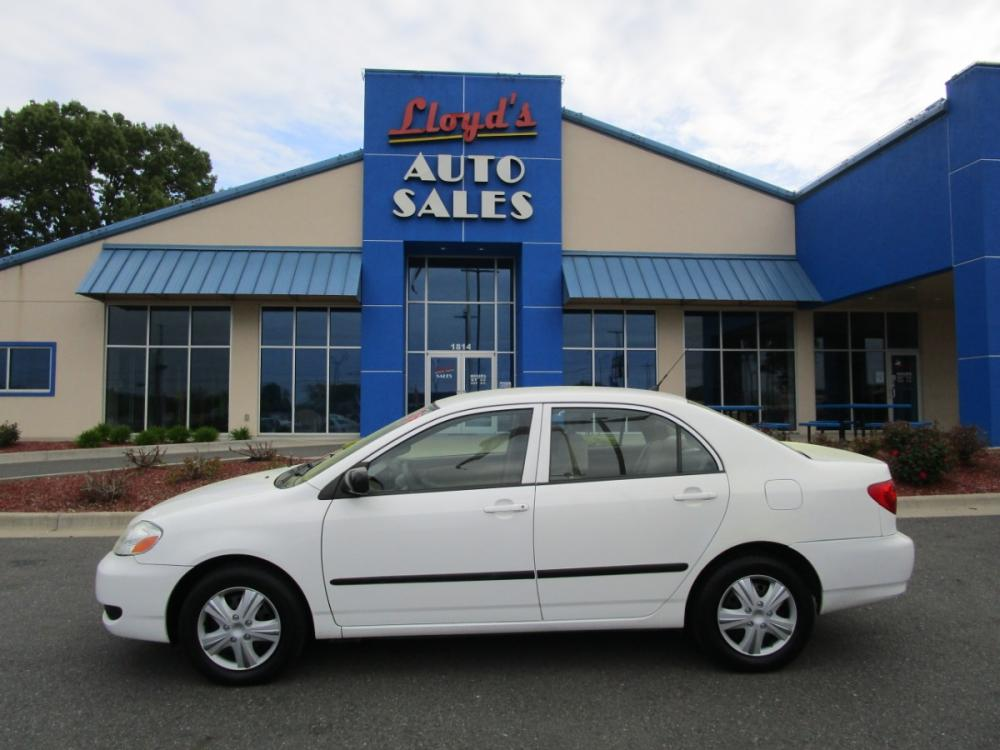 2007 WHITE /Tan / Cloth Toyota Corolla CE (2T1BR32E67C) with an 1.8L L4 DOHC 16V engine, located at 1814 Albert Pike Road, Hot Springs, AR, 71913, (501) 623-1717, 34.494591, -93.094971 - Photo #0