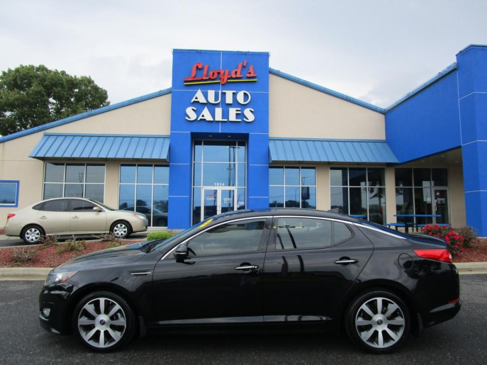 2012 BLACK /Black / Leather Kia Optima SX (5XXGR4A69CG) with an 2.0L L4 DOHC 16V TURBO engine, 6-Speed Automatic transmission, located at 1814 Albert Pike Road, Hot Springs, AR, 71913, (501) 623-1717, 34.494591, -93.094971 - Photo #0