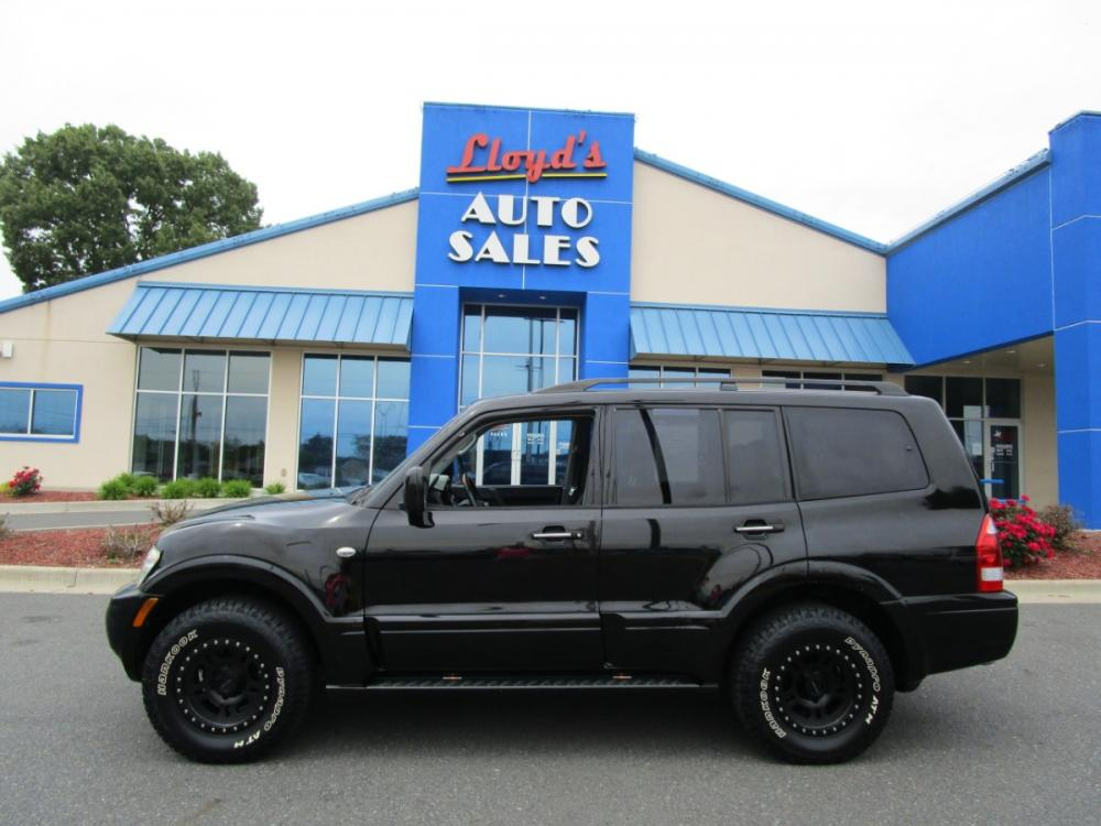 2004 BLACK /Black / Leather Mitsubishi Montero Limited 4WD (JA4MW51S84J) with an 3.8L V6 SOHC 24V engine, 5-Speed Automatic Overdrive transmission, located at 1814 Albert Pike Road, Hot Springs, AR, 71913, (501) 623-1717, 34.494591, -93.094971 - Photo #0